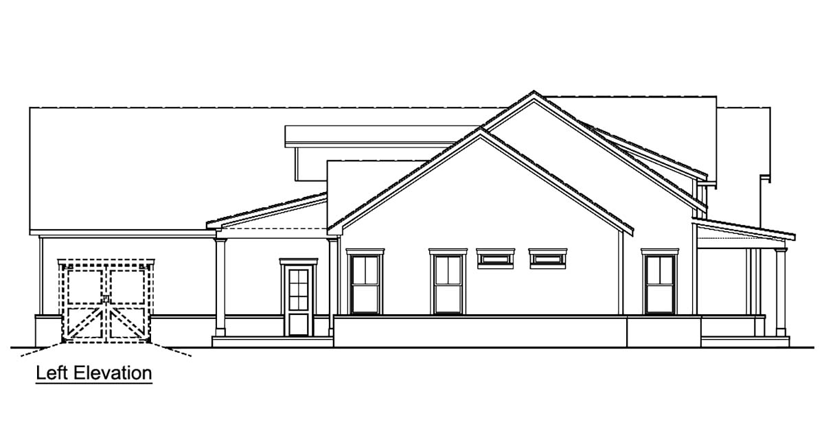 Country, Farmhouse, One-Story, Southern House Plan 72250 with 3 Beds, 4 Baths, 2 Car Garage Picture 2