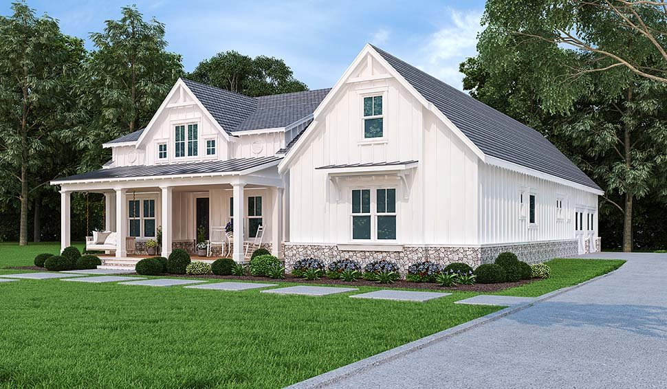 Country, Farmhouse, One-Story, Southern House Plan 72250 with 3 Beds, 4 Baths, 2 Car Garage Picture 3