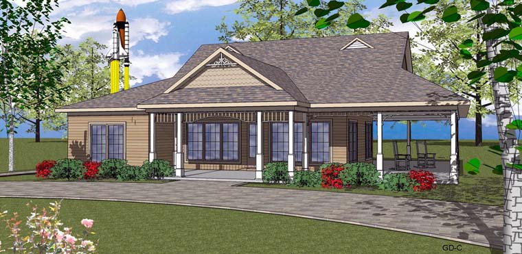 Coastal, Southern House Plan 72356 with 2 Beds, 3 Baths Front Elevation