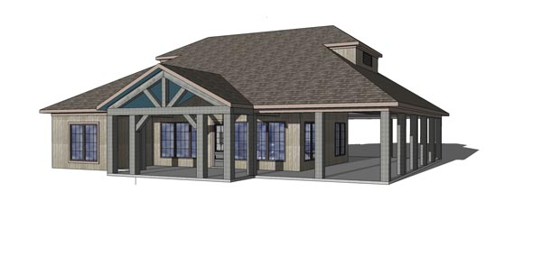 Coastal, Southern House Plan 72370 with 3 Beds, 3 Baths Picture 3