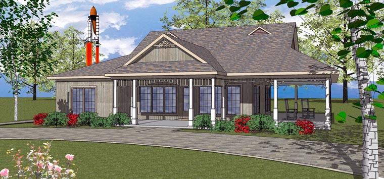 House Plan 72371 with 3 Beds, 3 Baths Front Elevation
