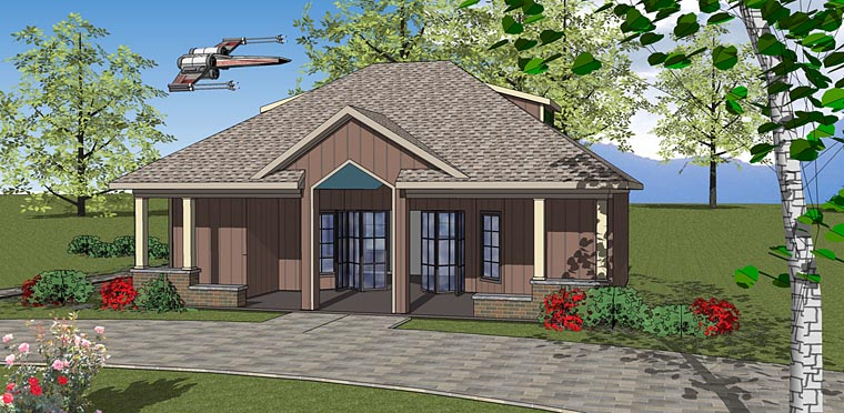 Contemporary, Cottage House Plan 72378 Elevation