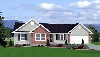 Traditional House Plan 72414 with 3 Beds, 2 Baths, 3 Car Garage Front Elevation