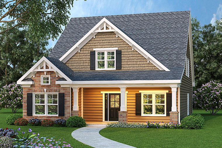 House Plan 72504 with 4 Beds, 3 Baths, 2 Car Garage Elevation