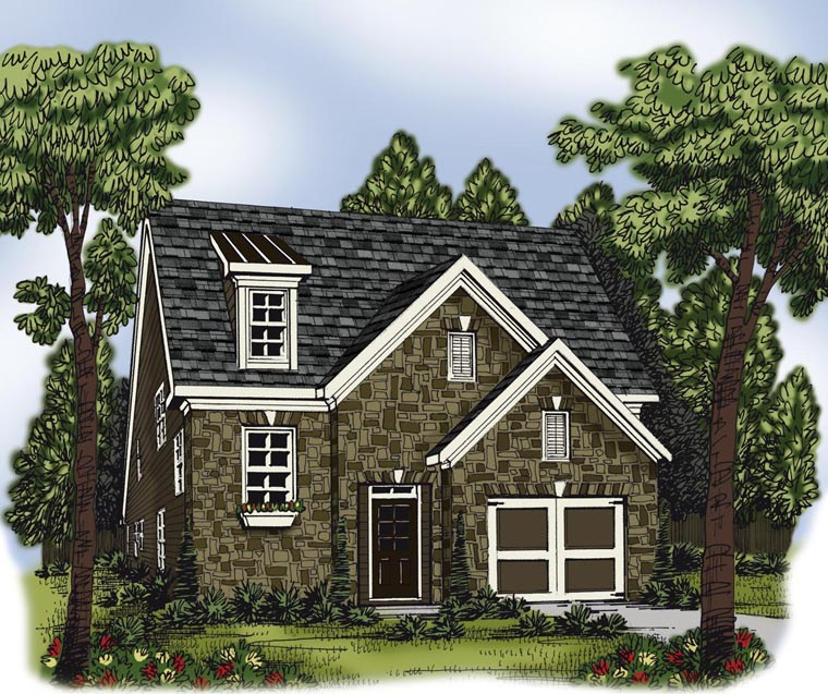 House Plan 72624 with 4 Beds, 4 Baths, 1 Car Garage Elevation