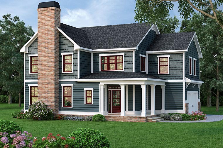 Country, Farmhouse, Southern House Plan 72657 with 4 Beds, 4 Baths, 2 Car Garage Elevation