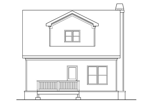 Bungalow, Cottage, Country, Craftsman, Southern House Plan 72660 with 4 Beds, 3 Baths Rear Elevation
