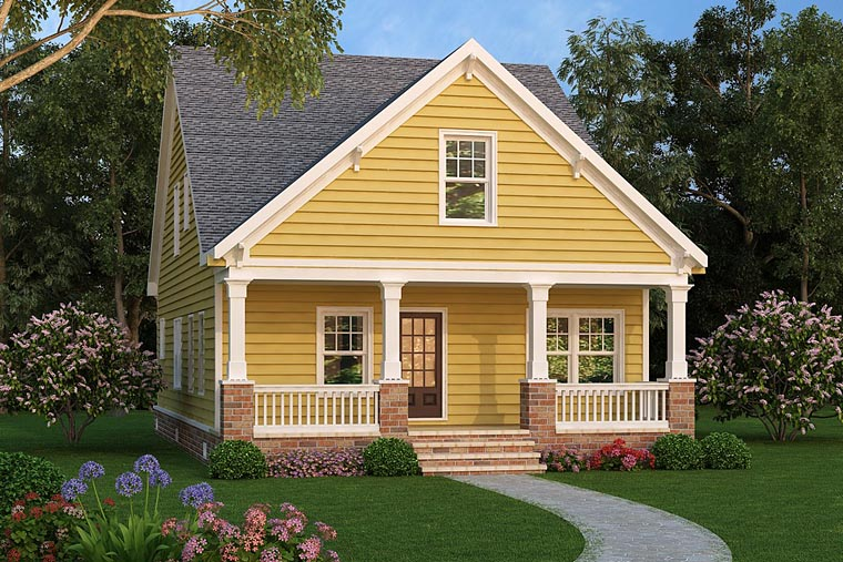 Cottage, Country, Craftsman House Plan 72698 with 4 Beds, 3 Baths Elevation