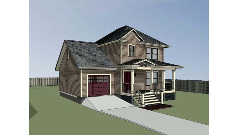 Bungalow House Plan 72705 with 3 Beds, 2 Baths, 1 Car Garage Picture 1