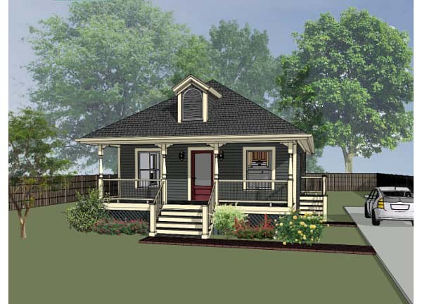 Bungalow House Plan 72708 with 3 Beds, 2 Baths Elevation