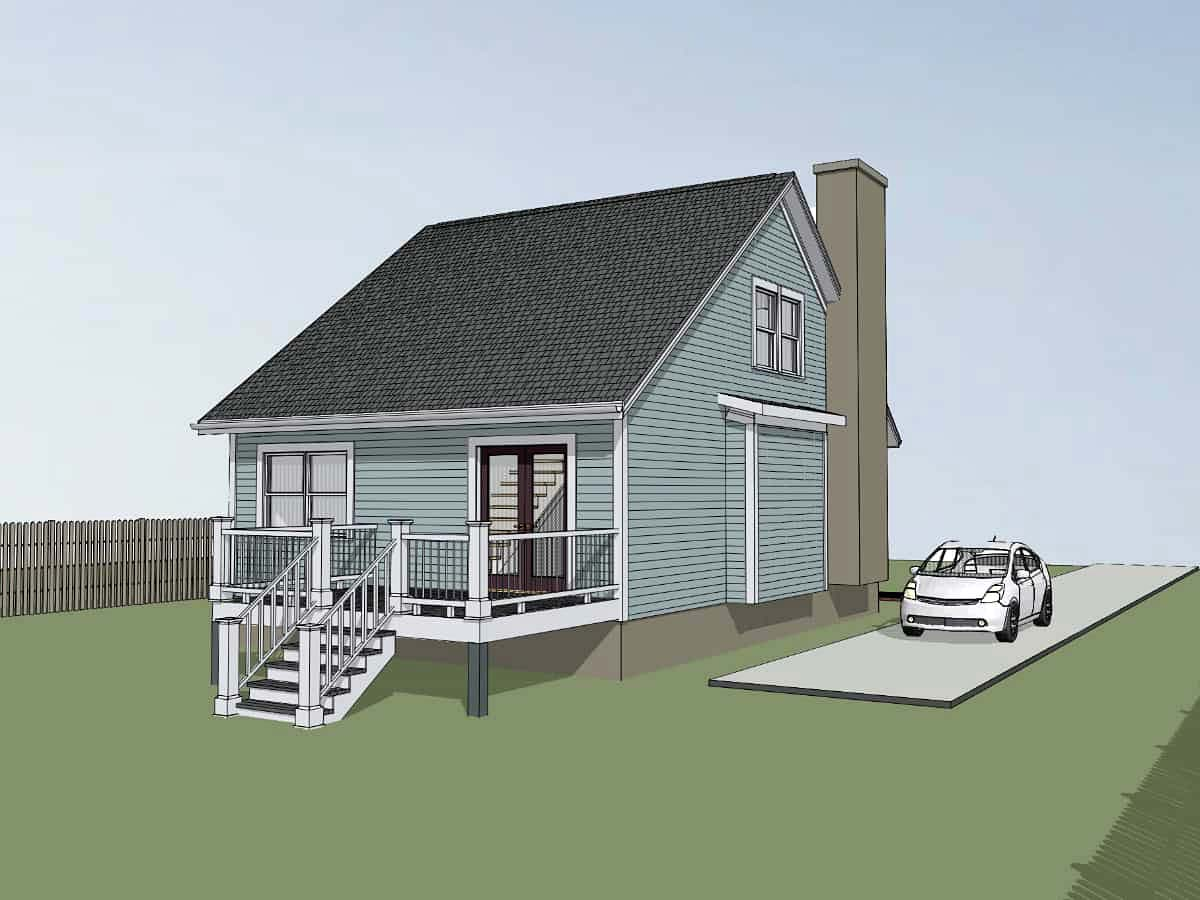 Bungalow House Plan 72718 with 3 Beds, 2 Baths Picture 2