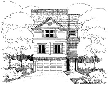 Bungalow House Plan 72720 with 2 Beds, 3 Baths, 2 Car Garage Elevation