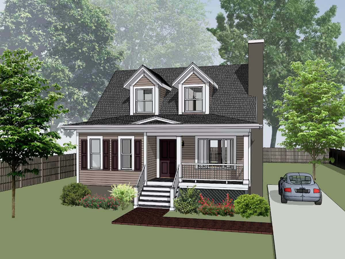 Bungalow House Plan 72722 with 3 Beds, 3 Baths Elevation