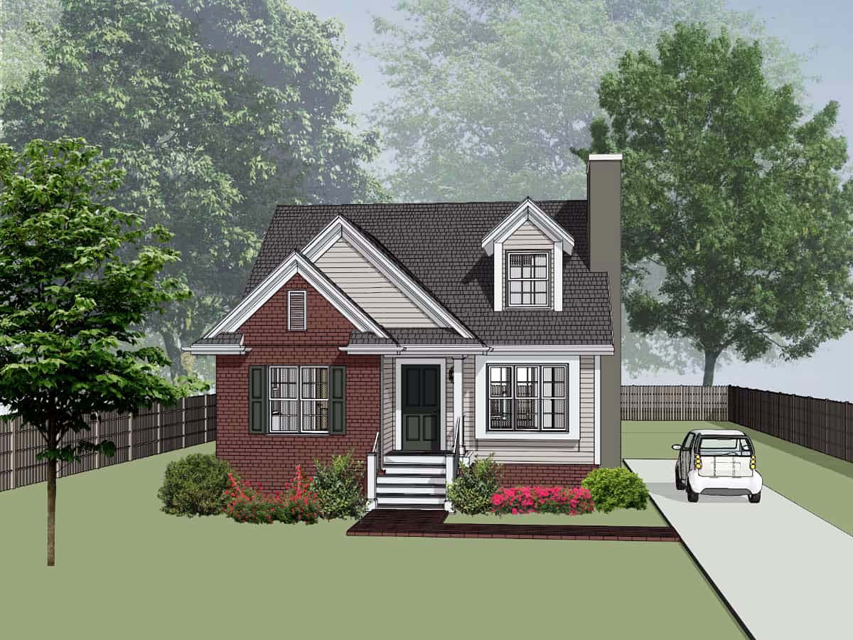 Bungalow House Plan 72724 with 3 Beds, 3 Baths Elevation