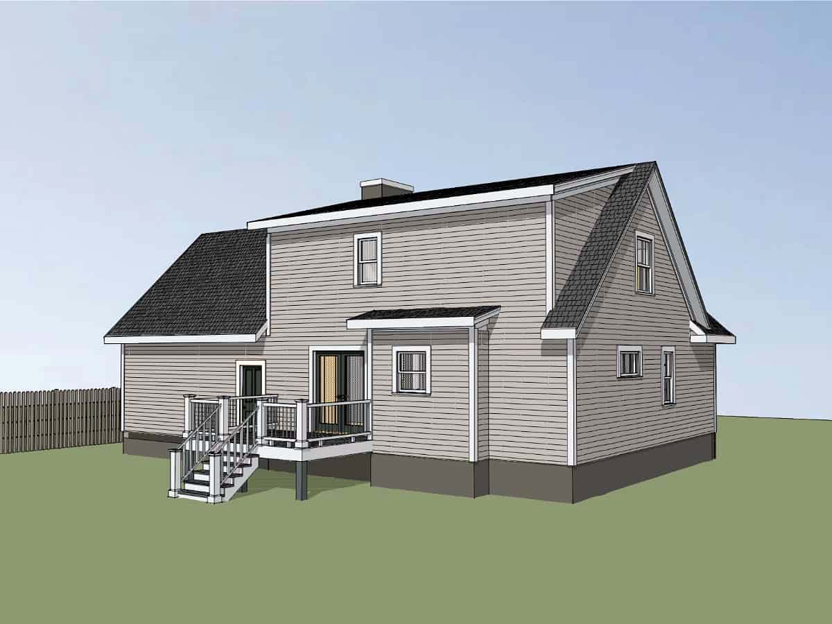 Bungalow House Plan 72726 with 3 Beds, 3 Baths, 2 Car Garage Picture 2