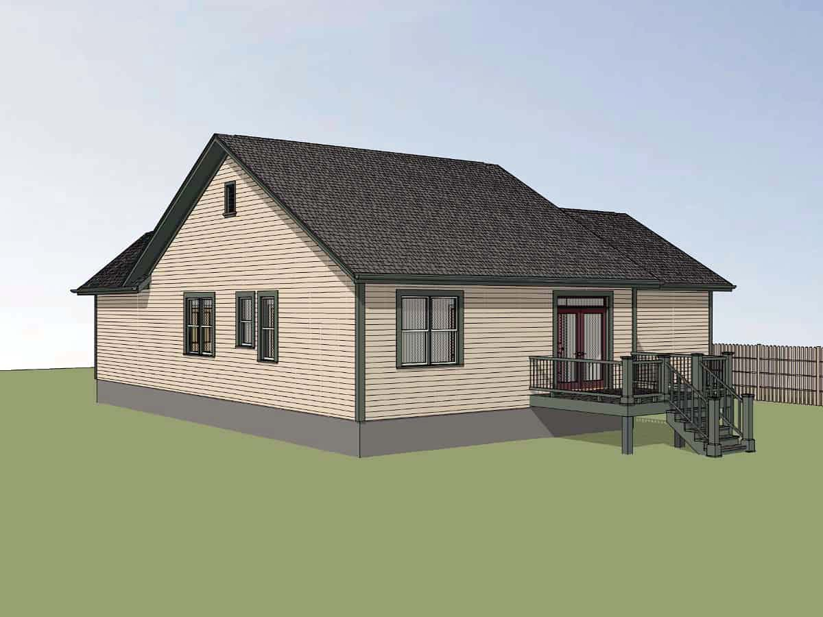 Bungalow House Plan 72728 with 3 Beds, 2 Baths, 2 Car Garage Picture 1