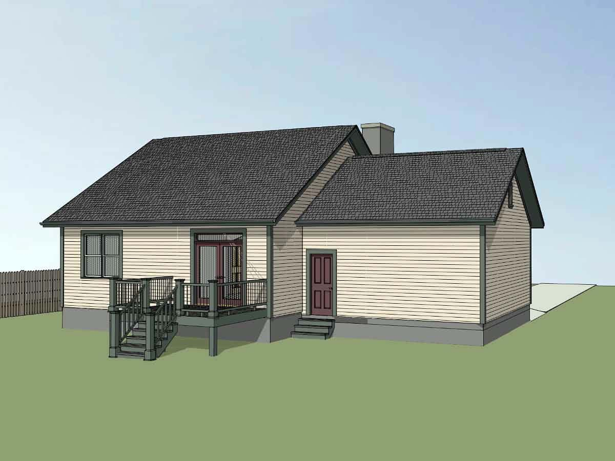 Bungalow House Plan 72728 with 3 Beds, 2 Baths, 2 Car Garage Picture 2