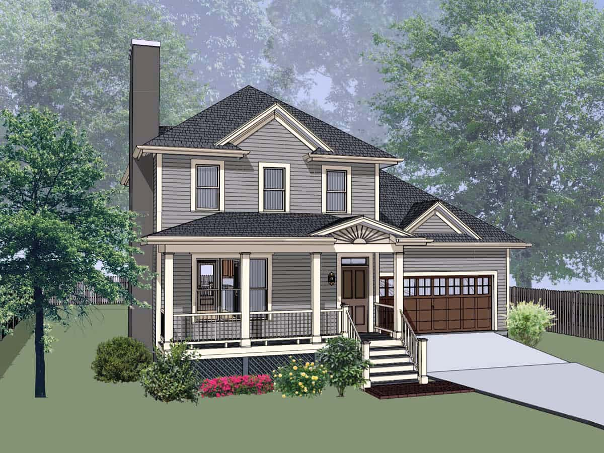 Bungalow House Plan 72730 with 3 Beds, 3 Baths, 2 Car Garage Front Elevation