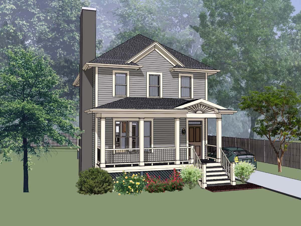 Bungalow House Plan 72732 with 3 Beds, 3 Baths Elevation
