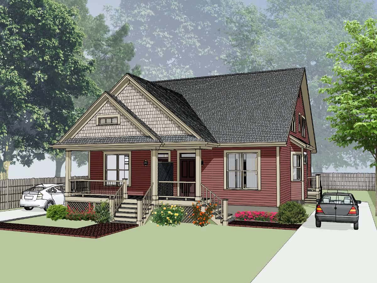 Bungalow Multi-Family Plan 72780 with 6 Beds, 4 Baths Picture 1