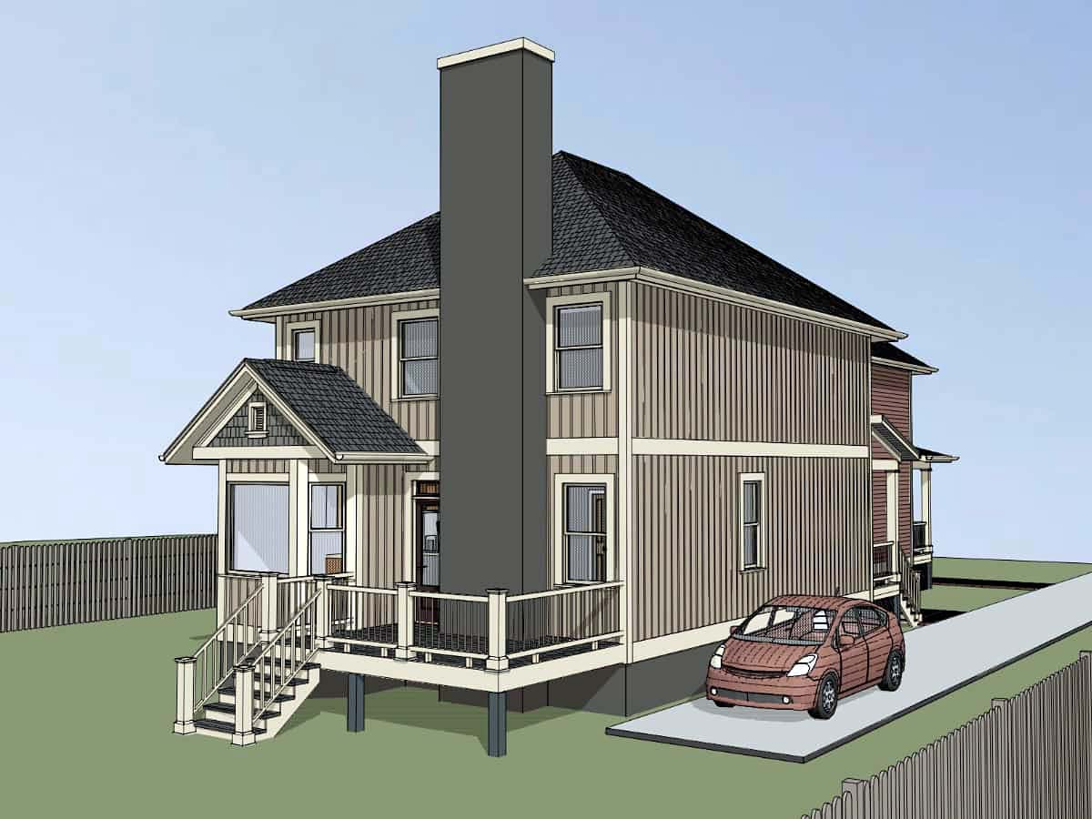 Multi-Family Plan 72792 with 5 Beds, 5 Baths Picture 2
