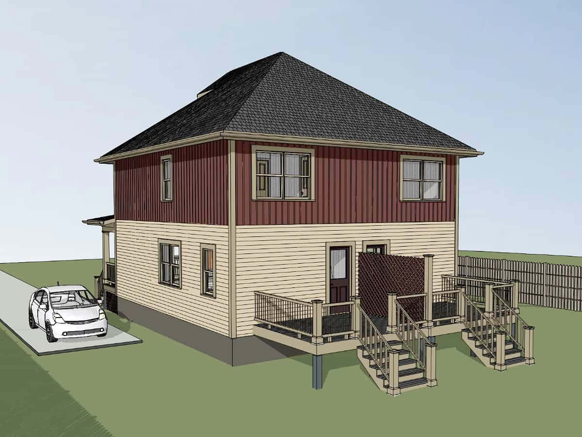 Multi-Family Plan 72793 with 4 Beds, 4 Baths Picture 1