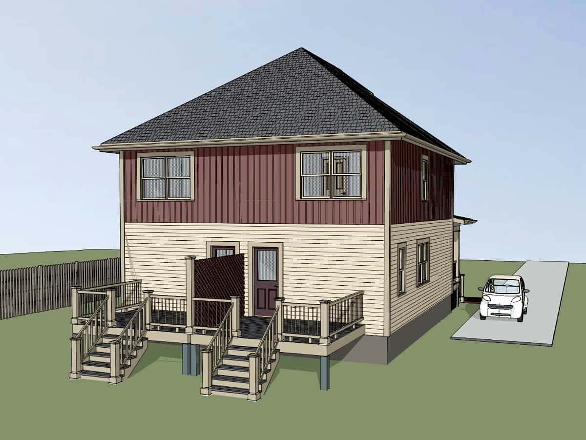 Multi-Family Plan 72793 with 4 Beds, 4 Baths Picture 2