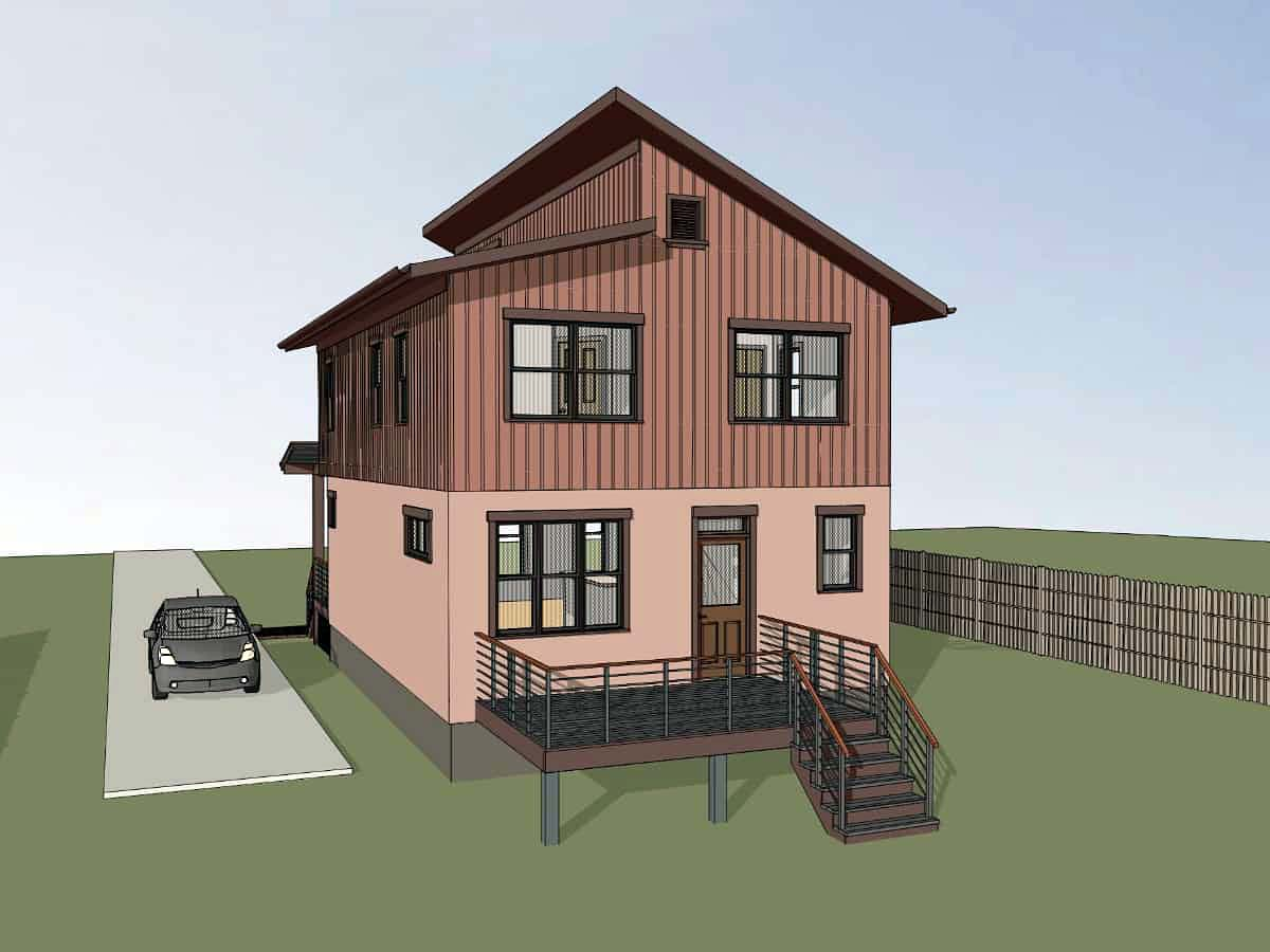 Contemporary House Plan 72796 with 3 Beds, 3 Baths Picture 1