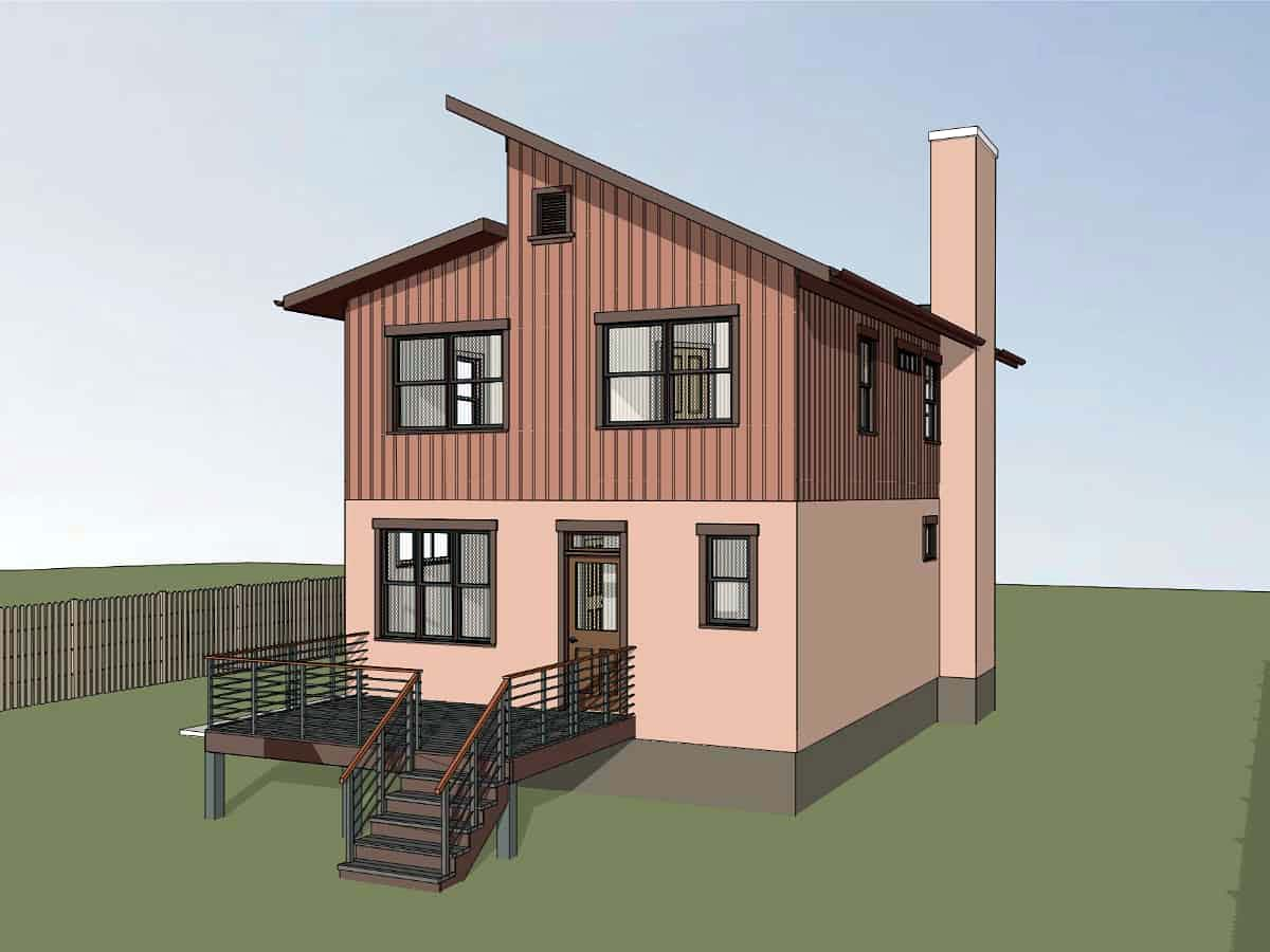 Contemporary House Plan 72796 with 3 Beds, 3 Baths Picture 2