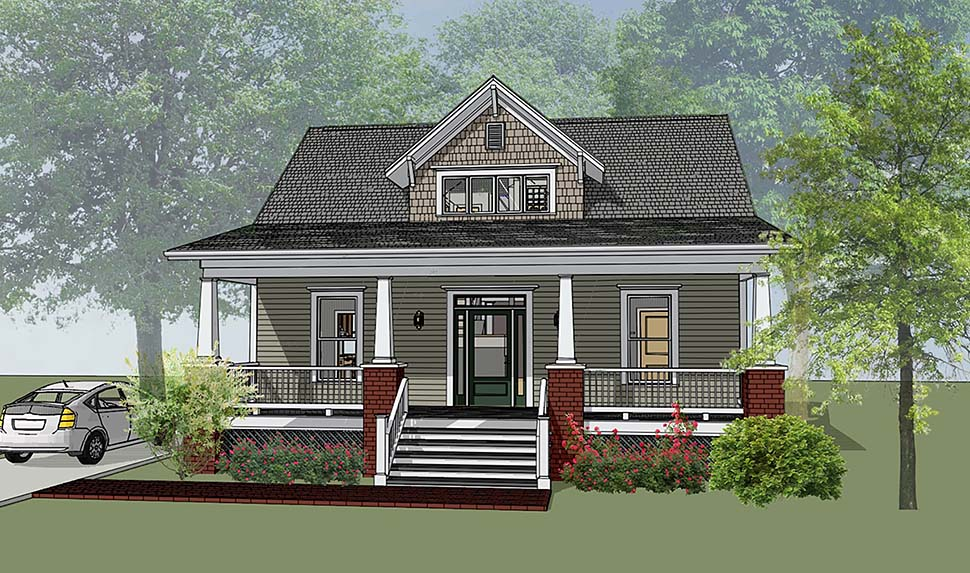 Bungalow, Craftsman House Plan 72798 with 3 Beds, 3 Baths Elevation