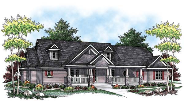Country, Craftsman, Farmhouse, One-Story, Ranch House Plan 72908 with 3 Beds, 3 Baths, 3 Car Garage Elevation