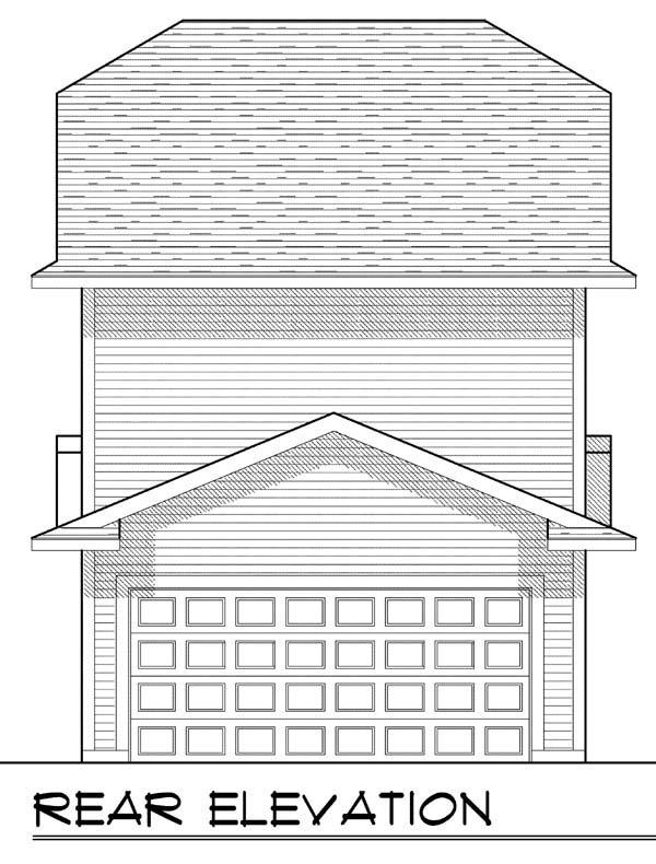 Cottage, Craftsman House Plan 72921 with 2 Beds, 3 Baths, 2 Car Garage Rear Elevation