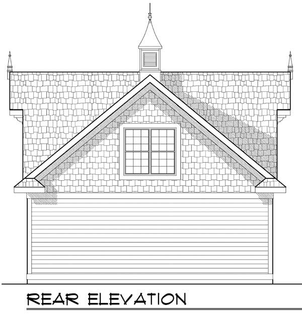 2 Car Garage Plan 72928 Rear Elevation