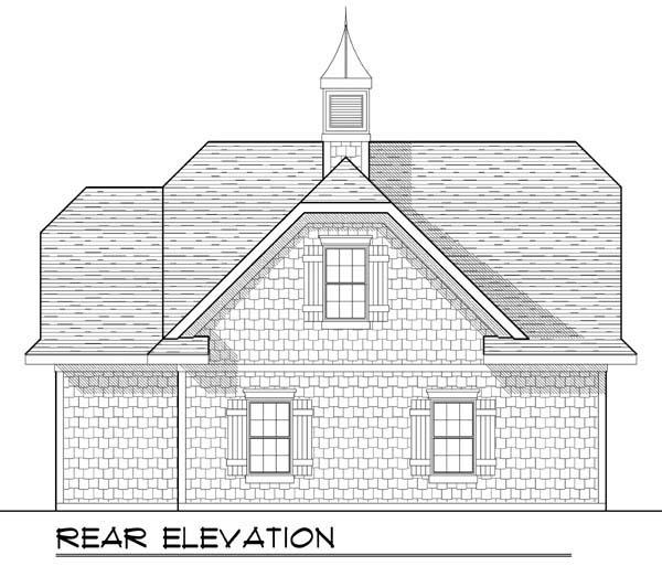 2 Car Garage Plan 72929 Rear Elevation