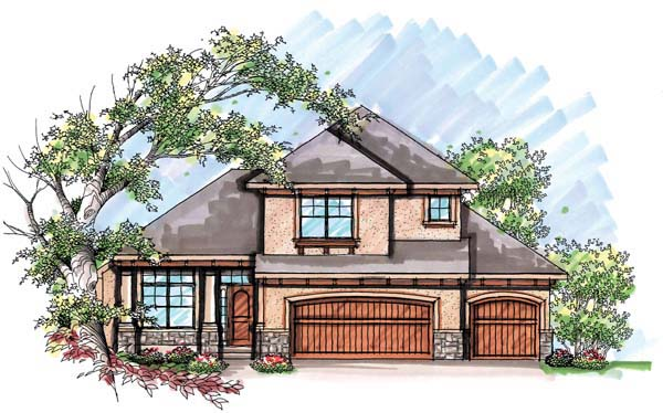 Mediterranean House Plan 72930 with 3 Beds, 3 Baths, 3 Car Garage Elevation