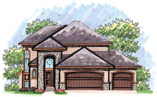 Mediterranean House Plan 72931 with 3 Beds, 3 Baths, 3 Car Garage Elevation