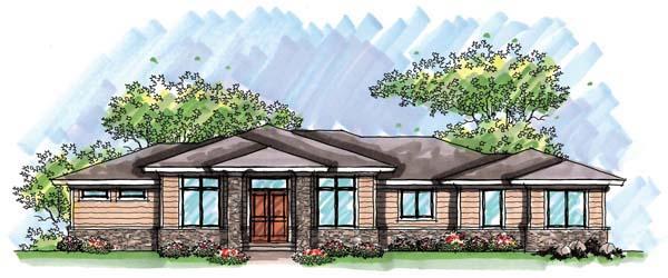 Prairie, Southwest House Plan 72962 with 5 Beds, 4 Baths, 3 Car Garage Elevation