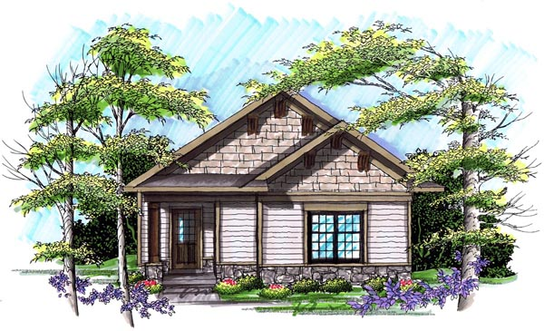Ranch House Plan 72979 with 3 Beds, 2 Baths, 2 Car Garage Elevation