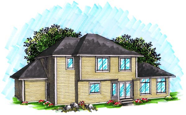 Craftsman, Traditional House Plan 72990 with 4 Beds, 3 Baths, 3 Car Garage Rear Elevation