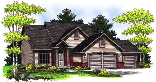 Traditional House Plan 73009 with 4 Beds, 4 Baths, 3 Car Garage Elevation