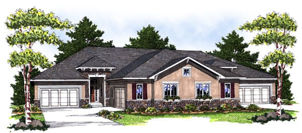 Mediterranean, Traditional Multi-Family Plan 73032 with 8 Beds, 8 Baths, 6 Car Garage Elevation