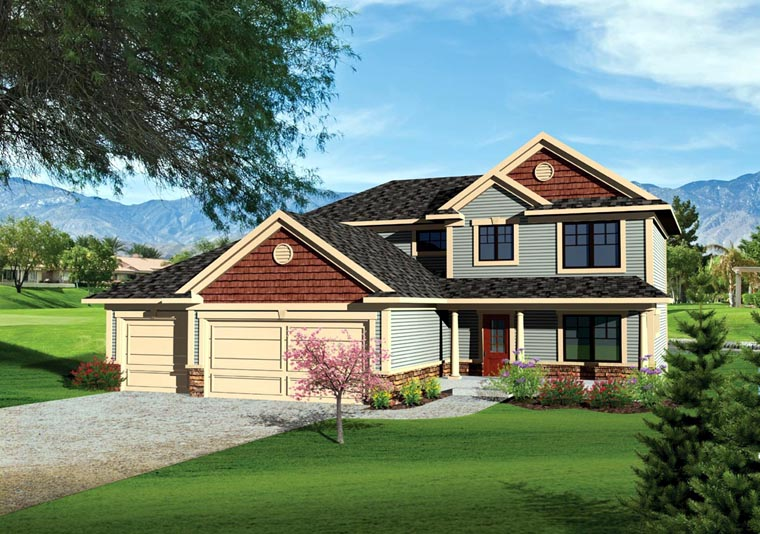 Traditional House Plan 73142 with 3 Beds, 3 Baths, 3 Car Garage Elevation