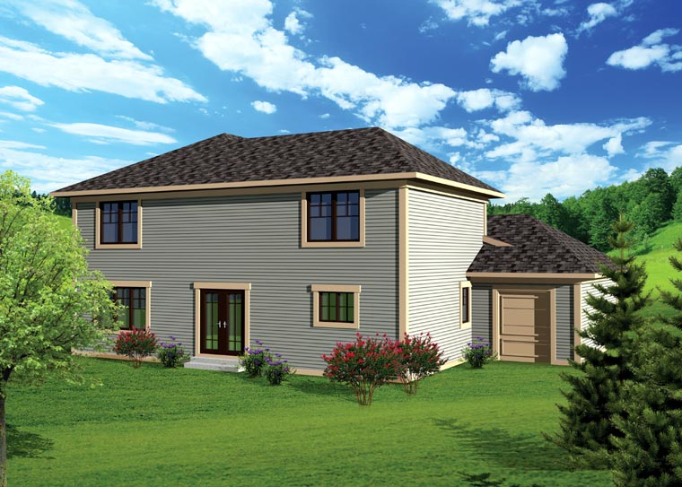 Traditional House Plan 73142 with 3 Beds, 3 Baths, 3 Car Garage Rear Elevation
