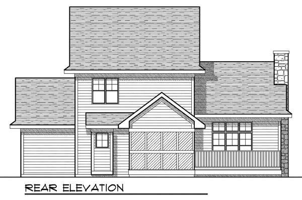 Traditional House Plan 73180 with 3 Beds, 3 Baths, 3 Car Garage Rear Elevation