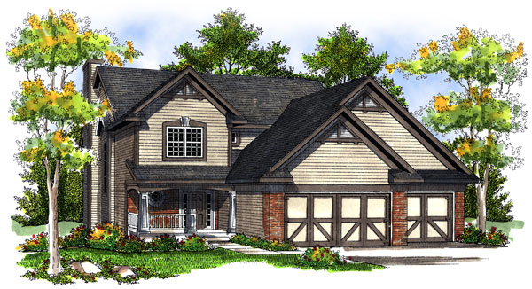 Country House Plan 73195 with 4 Beds, 3 Baths, 3 Car Garage Elevation
