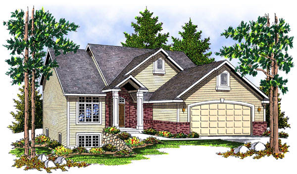 Contemporary House Plan 73221 with 4 Beds, 4 Baths, 2 Car Garage Elevation