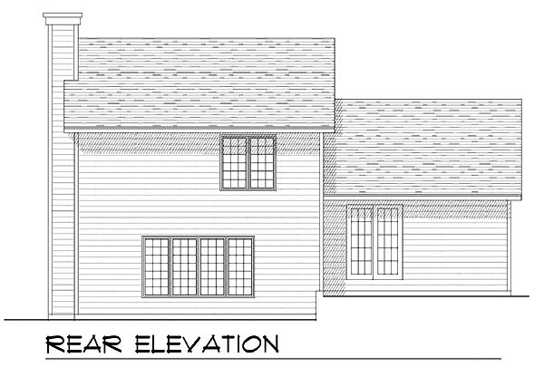 Country House Plan 73287 with 3 Beds, 2 Baths, 2 Car Garage Rear Elevation