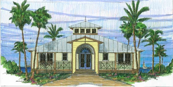 Coastal, Florida, Southern House Plan 73602 with 3 Beds, 2 Baths Front Elevation