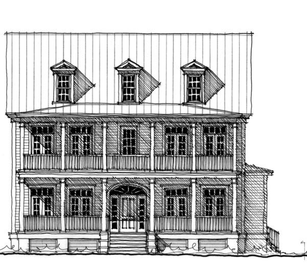 Historic, Narrow Lot House Plan 73702 with 5 Beds, 5 Baths Picture 1