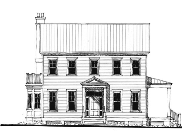 Historic, Southern House Plan 73713 with 4 Beds, 4 Baths Front Elevation